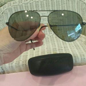 Sunglasses / serengeti..brownish metallic frame